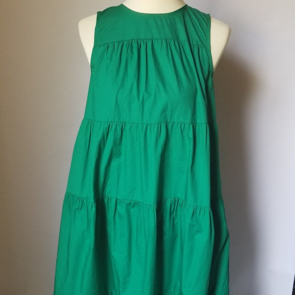 bd2aaf32719 NEW Who What Wear Green Tiered Maxi Dress XS